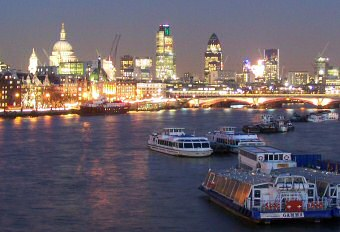 photograph of london at night