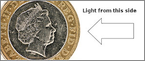 lighting coins for photography