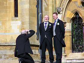 the official photographer at a wedding